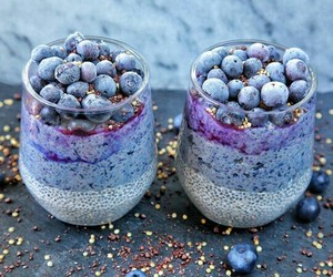 food, blueberries, and FRUiTS image