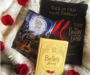 beauty and the beast, book, and movie image