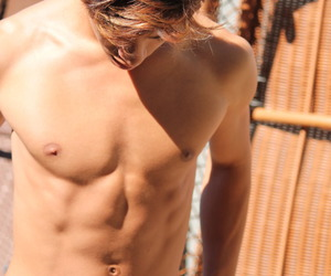 :O, abs, and blonde image