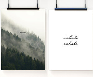breathe, minimalist, and poster image