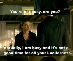 lucifer, chloe, and funny image