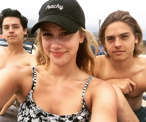 actors, lili reinhart, and dylan sprouse image