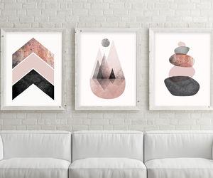 blush, scandinavian print, and minimalist print image