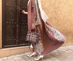 abaya, dress, and fashion image