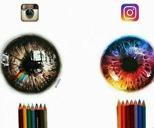 instagram, art, and eyes image