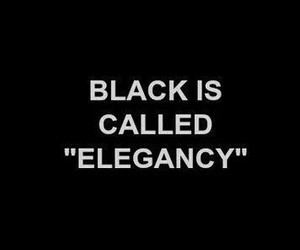 black, elegance, and elegancy image