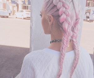 spring, beautiful, and braids image
