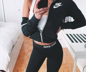 nike, black, and fitness image
