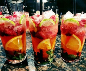 coctail, fruit, and summer image