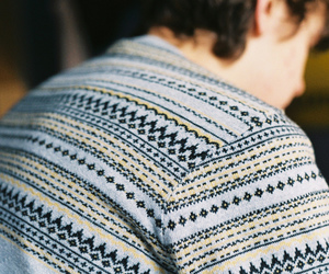 boy, sweater, and vintage image