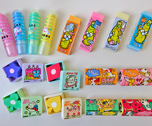 color, colorful, and erasers image
