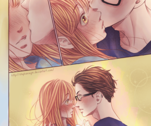 couple, kiss, and manga image