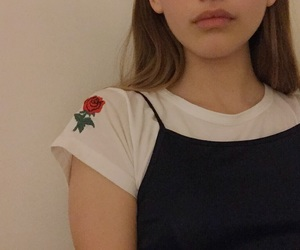 rose, aesthetic, and girl image