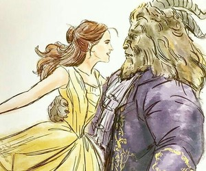 beauty and the beast, couple, and disney image