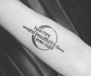 tattoo, exist, and quote image