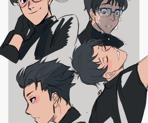 boy, sketch, and yuri!!! on ice image