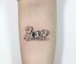 tattoo, dog, and cute image