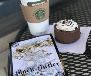black butler, coffee, and lizzy image