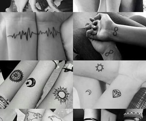 inked, tattos, and friends image