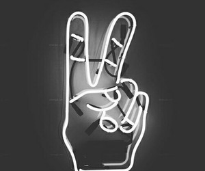 light, neon, and peace image