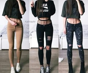 casual, girl, and look image