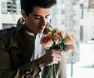 boy, roses, and love image