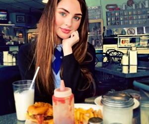 blue, diner, and food image