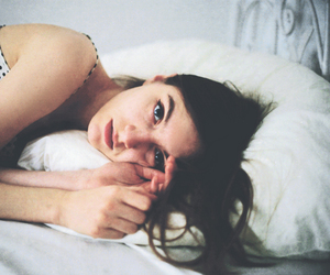 girl, photography, and bed image