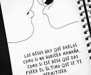 love, frases, and kiss image