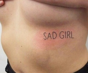 tattoo, sad, and sad girl image
