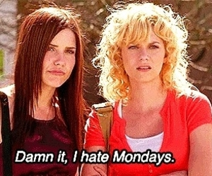 monday, one tree hill, and hate image