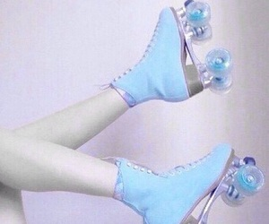 blue, pastel, and pale image