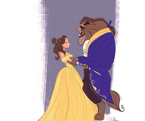 belle, disney, and princess image