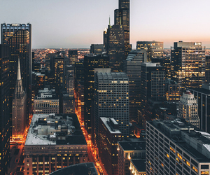 city, chicago, and light image