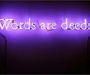 purple, light, and words image