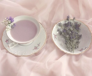 aesthetic, purple, and tea image