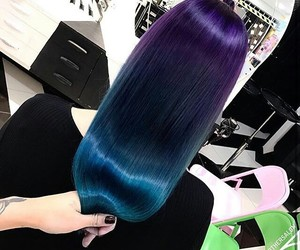 blue, wow, and hairstayle image