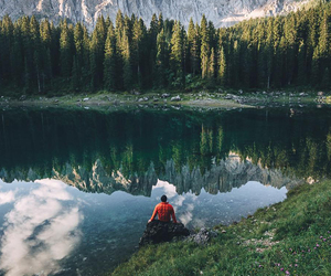 mountains, nature, and trees image