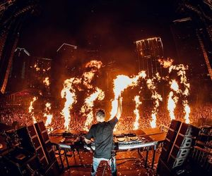 dj, fire, and ultra music festival image