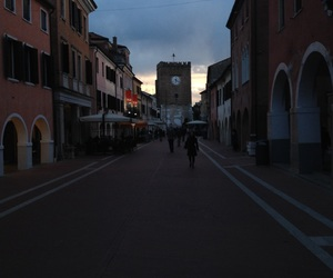 square, street, and sunset image
