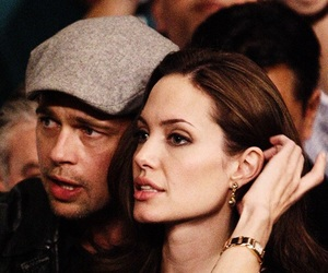 Angelina Jolie, couple, and brad pitt image