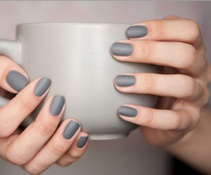 female, nails, and grey image