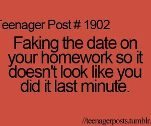 teenager post, homework, and true image