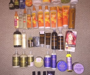 hair, hair products, and self care image