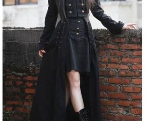 black, victorian goth, and victorian image