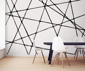 abstraction, black and white, and decor image
