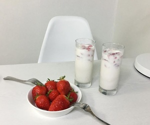 white, aesthetic, and strawberry image