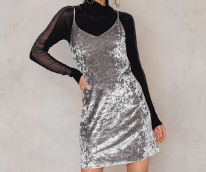 beautiful, clothes, and silver dresses image