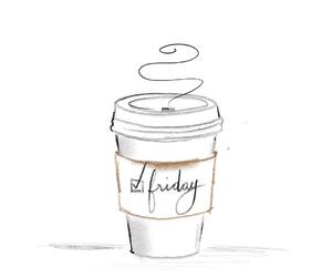 coffee, friday, and illustration image