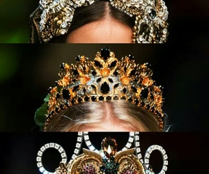crowns, fashion, and gold image